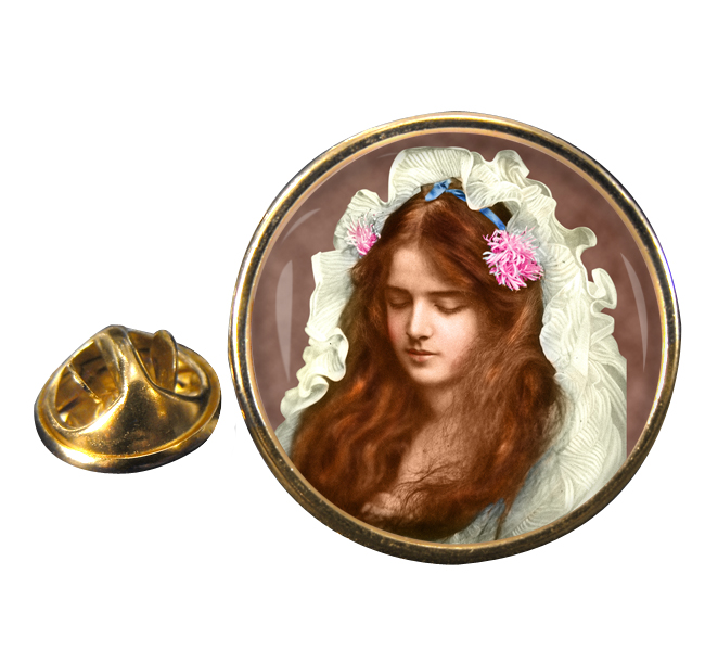 Marguerite Clark Silent Movie Star Round Pin Badge