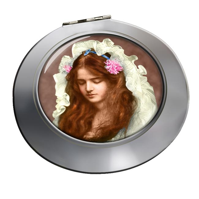 Marguerite Clark Silent Movie Star Chrome Mirror