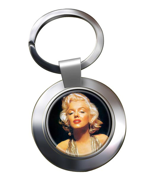 Marilyn Monroe Chrome Key Ring