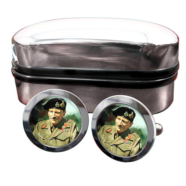 Field Marshal Bernard Law Montgomery Round Cufflinks