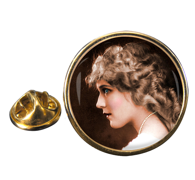 Mary Pickford Round Pin Badge