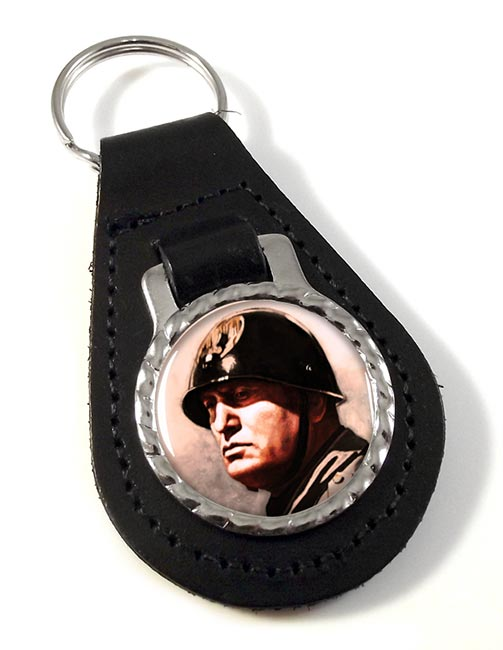 Benito Mussolini Leather Key Fob