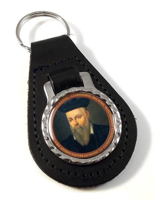 Nostradamus Leather Key Fob