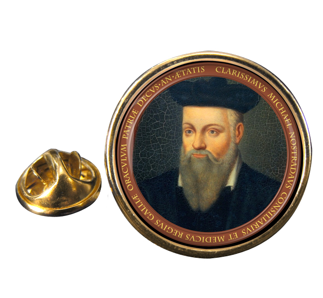 Nostradamus Round Pin Badge