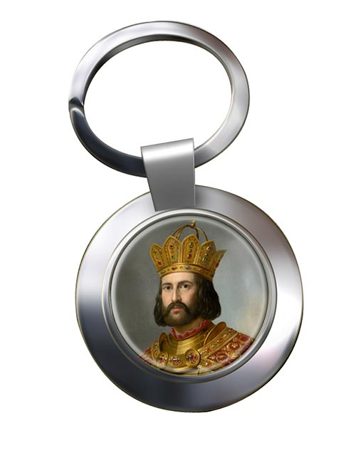 Holy Roman Emperor Otto I Chrome Key Ring