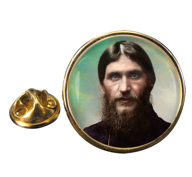 Grigori Rasputin Round Pin Badge