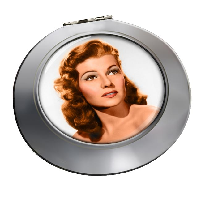 Rita Hayworth Chrome Mirror