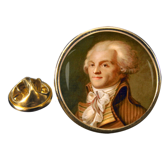 Maximilien de Robespierre Round Pin Badge