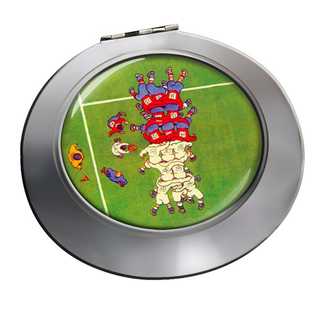 Rugby Scrum Chrome Mirror