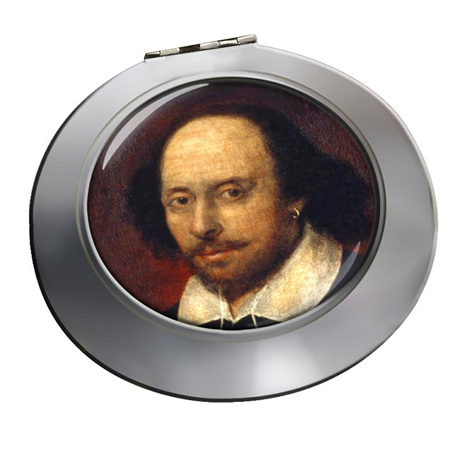 William Shakespeare Chrome Mirror