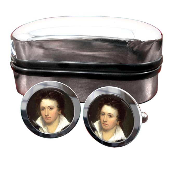 Percy Bysshe Shelley Round Cufflinks