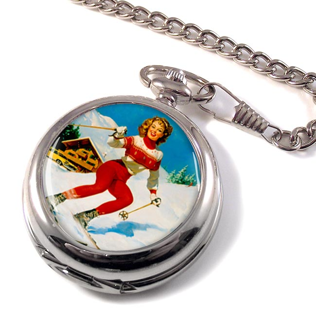 Skiier Pocket Watch