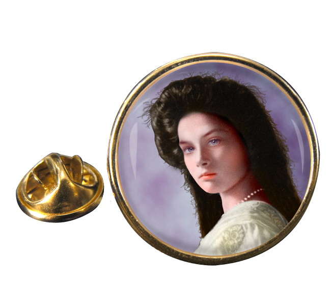 Grand Duchess Tatiana Nikolaevna Round Pin Badge