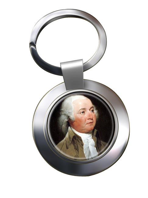 President John Adams Chrome Key Ring