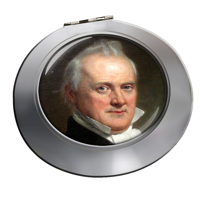 President James Buchanan Chrome Mirror