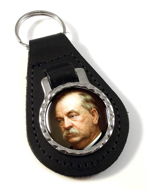 President Grover Cleveland Leather Key Fob