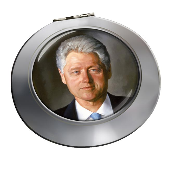 President Bill Clinton Chrome Mirror