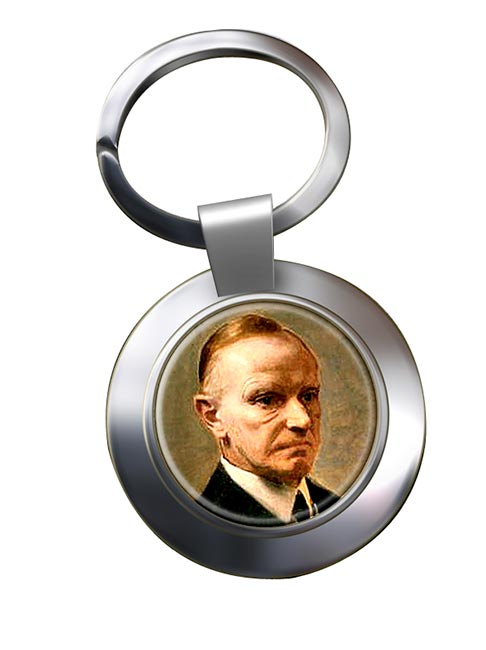 President Calvin Coolidge Chrome Key Ring