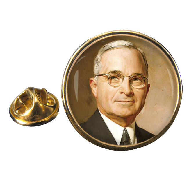 President Harry Truman Round Pin Badge
