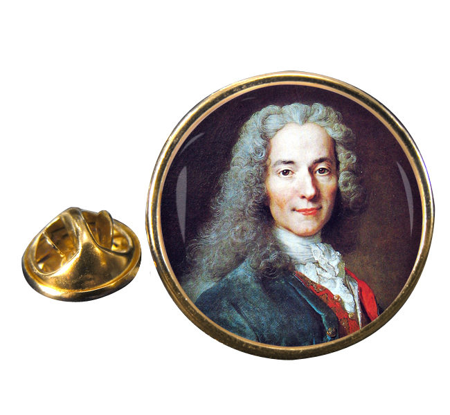Voltaire Round Pin Badge