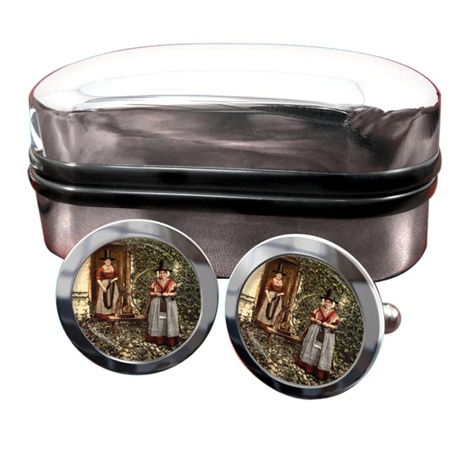 Welsh Costume Round Cufflinks