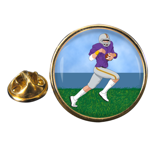 Wide Receiver Round Pin Badge