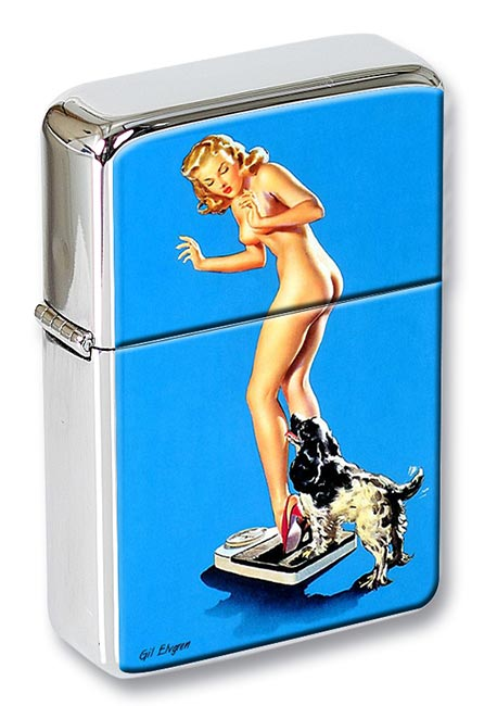 Pleasing Discovery Pin-up Girl Flip Top Lighter