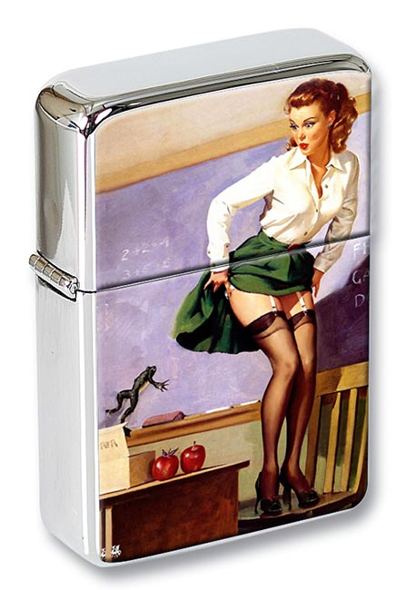 Class Dismissed Pin-up Girl Flip Top Lighter