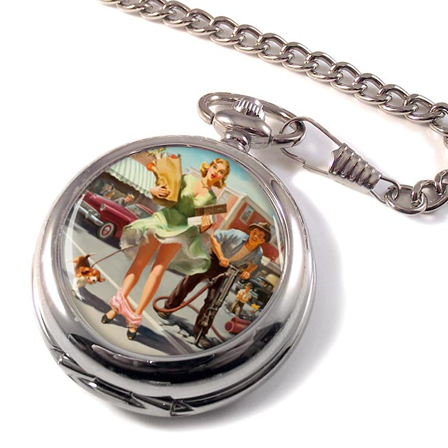 Shopper's Dilemna Pin-up Pocket Watch