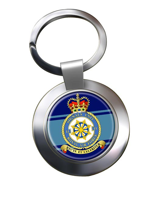 No. 11 Signals Unit (Royal Air Force) Chrome Key Ring