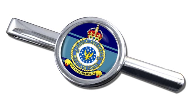No. 133 Eagle Squadron (Royal Air Force) Round Tie Clip