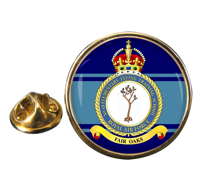 No. 18 Elementary Flying Training School (Royal Air Force) Round Pin Badge