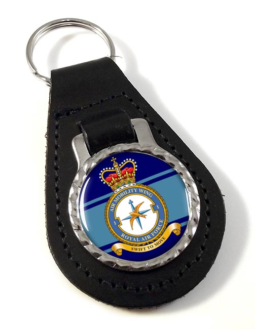 No. 1 Air Mobility Wing (Royal Air Force) Leather Key Fob