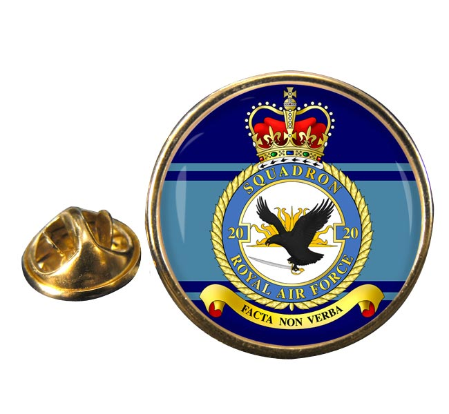 No. 20 Squadron (Royal Air Force) Round Pin Badge