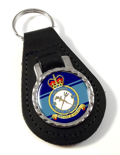 No. 205 Squadron (Royal Air Force) Leather Key Fob