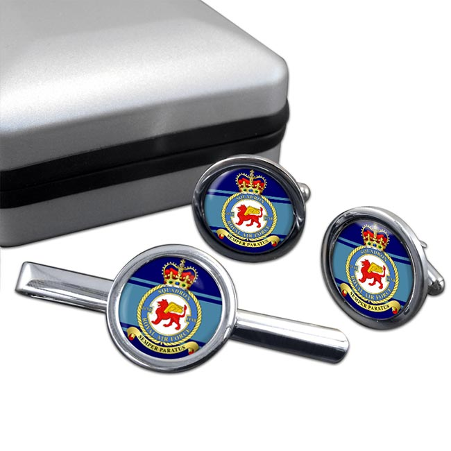 No. 207 Squadron (Royal Air Force) Round Cufflink and Tie Clip Set