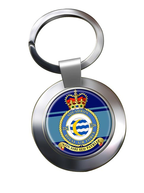 No. 226 Squadron (Royal Air Force) Chrome Key Ring