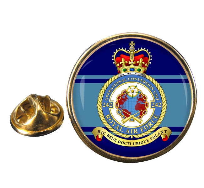 242 OCU Round Pin Badge