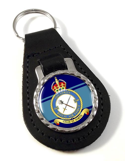 No. 260 Squadron (Royal Air Force) Leather Key Fob