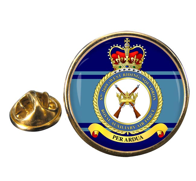 RAuxAF Regiment No. 2609 Round Pin Badge