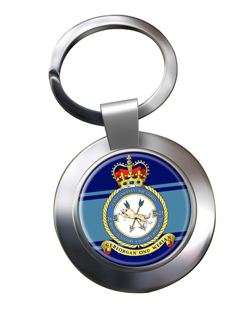 RAuxAF Regiment No. 2623 Chrome Key Ring
