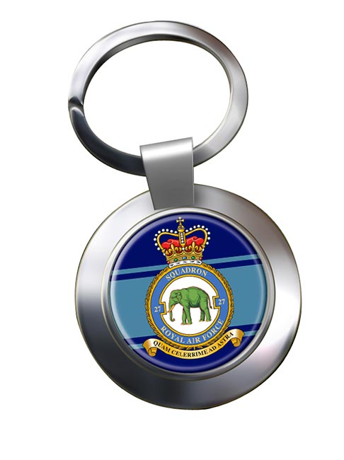 No. 27 Squadron (Royal Air Force) Chrome Key Ring