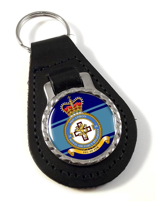 Royal Air Force Regiment No. 34 Leather Key Fob