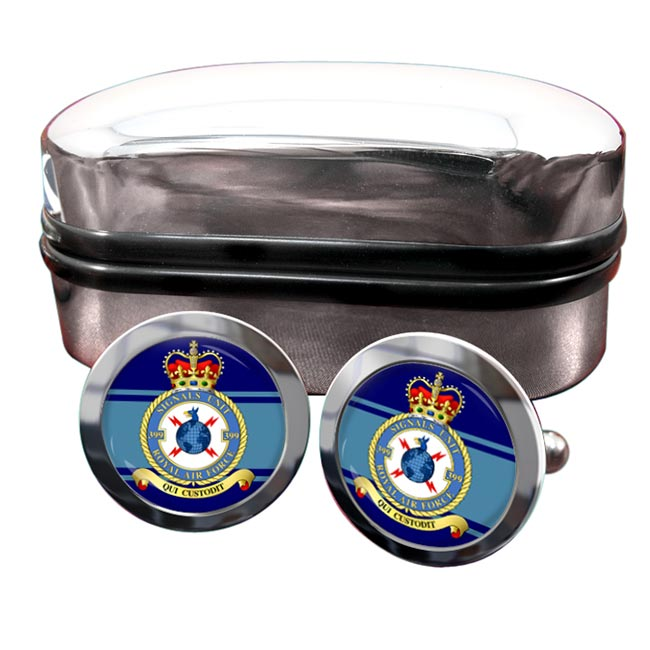 No. 399 Signals Unit (Royal Air Force) Round Cufflinks
