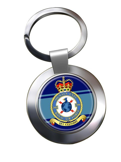 No. 399 Signals Unit (Royal Air Force) Chrome Key Ring