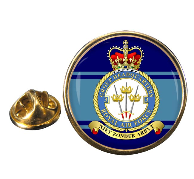 No. 3 Group Headquarters (Royal Air Force) Round Pin Badge