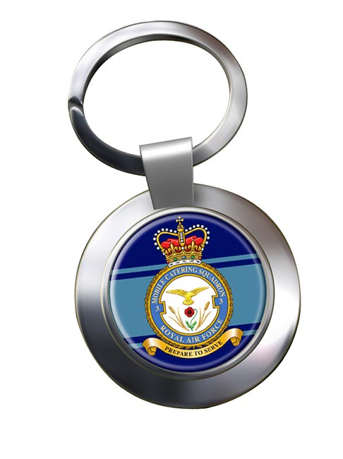 No. 3 Mobile Catering Squadron (Royal Air Force) Chrome Key Ring