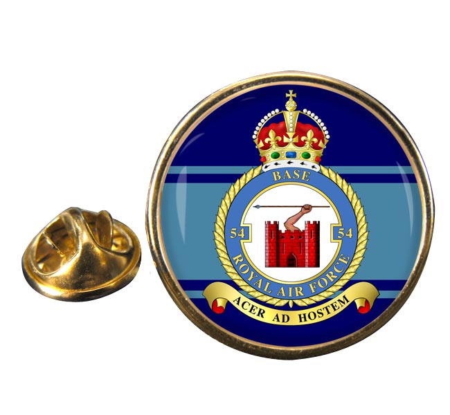 No. 54 Base (Royal Air Force) Round Pin Badge