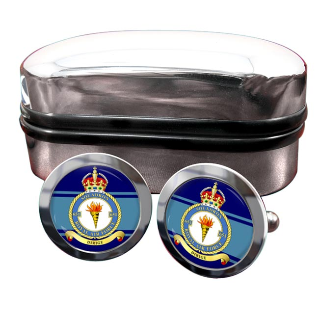 No. 651 Squadron (Royal Air Force) Round Cufflinks