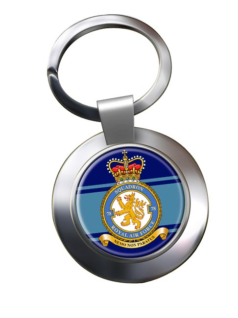 No. 78 Squadron (Royal Air Force) Chrome Key Ring
